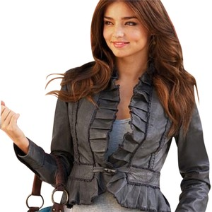 Victoria's Secret Leather black Leather Jacket