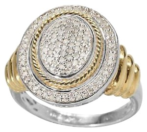Affinity Diamond Jewelry Affinity Diamond 18K Clad Sterling 1/4ct tw Oval Ring - Size 5