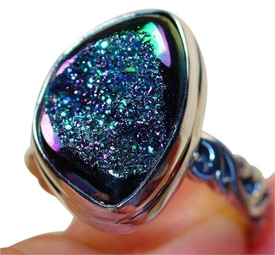 Preload https://item3.tradesy.com/images/other-blue-green-titanium-druzy-sterling-silver-ring-1582887-0-21.jpg?width=440&height=440