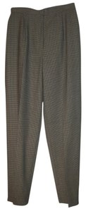 Jones New York Straight Pants Houndstooth Brown and Beige