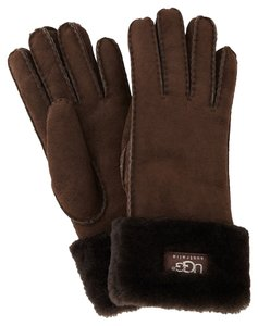 UGG Australia UGG Classic Turn Cuff Glove - Chocolate, Small, Shearling Sheepskin