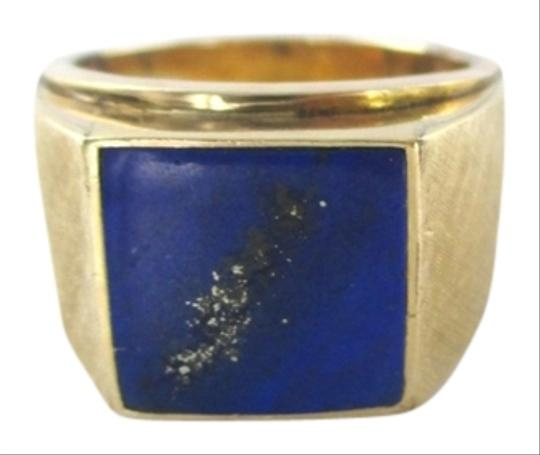 KEVIN 14KT SOLID YELLOW GOLD LAPIZ LAZULI SZ 9 KEVIN DESIGNER 11.3 GRAMS MENS JEWELRY