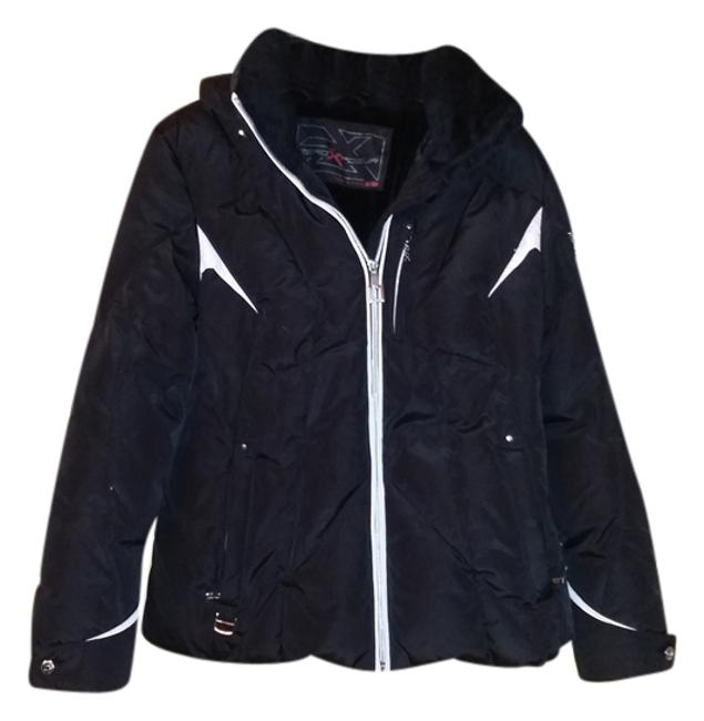 Item - Black & White with Removable Hood Coat Size 16 (XL, Plus 0x)