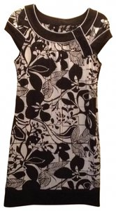 BCBGMAXAZRIA short dress black and white print on Tradesy