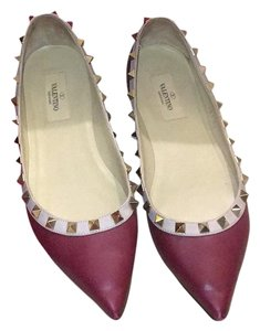 Valentino wine red Flats