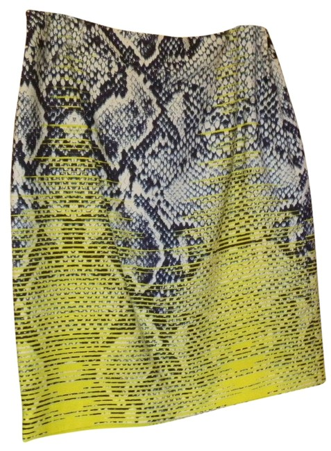 Magaschoni Silk Skirt Blue and yellow