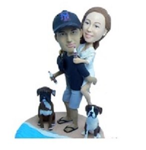Couple With Pets Topper