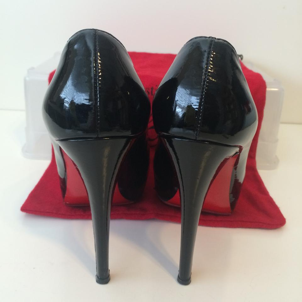 212aaf19a0b Christian Louboutin Black Loafer Lapano Patent Leather Booties Eu 37.5 Pumps