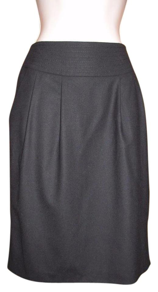 d91d77fe5d Pure Collection Black Uk 8 Felted Stretch Wool Pencil Skirt Size 2 ...