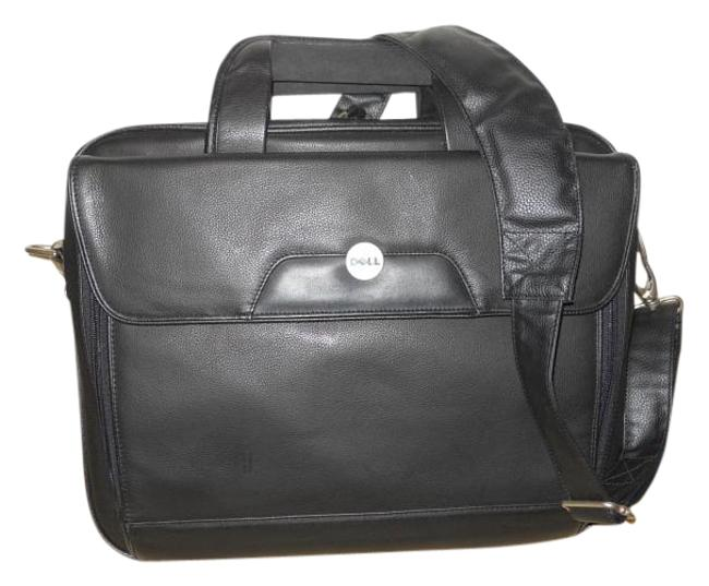 Faux Leather Briefcase Black Man Made Laptop Bag Faux Leather Briefcase Black Man Made Laptop Bag Image 1