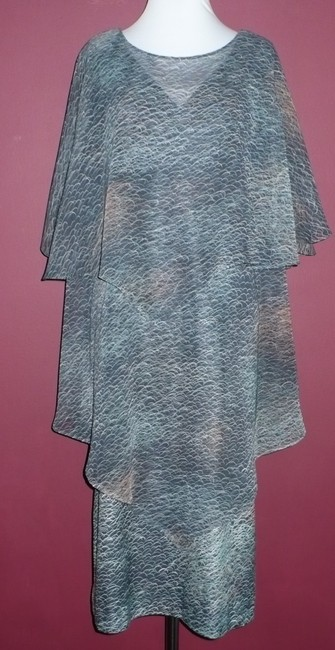 Slimray of London Cape Tiered Layered Vintage 70's Dress