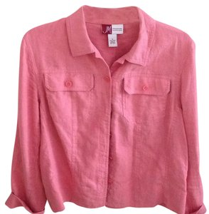 Jennifer Moore Button Down Shirt Salmon