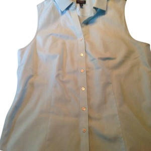 5c8824c6b5 Talbots Button Down Shirt Blue (very pale turquoise)