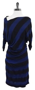 Vivienne Westwood short dress Blue & Black Striped on Tradesy