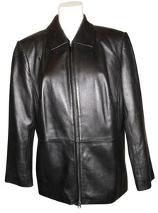 Talbots Leather black Leather Jacket