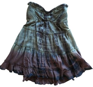 Free People Strapless Coverup Cover Up Top Purple Tie Dye