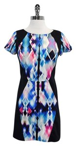 MILLY short dress Multi Color Geo Print on Tradesy
