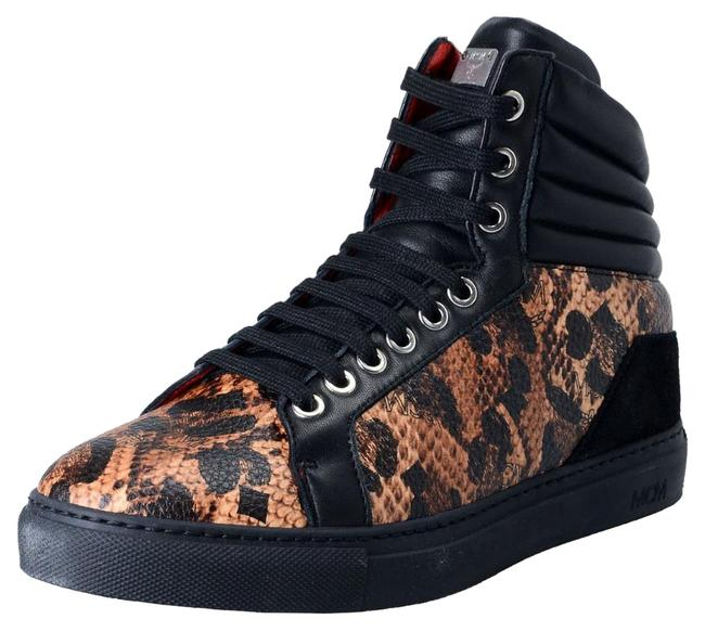 MCM Jaguar Black Visetos Women's Hi Top Fashion Sneakers Size US 6 Regular (M, B) MCM Jaguar Black Visetos Women's Hi Top Fashion Sneakers Size US 6 Regular (M, B) Image 1