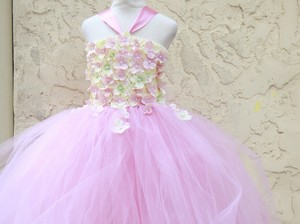Rosy Mauve Custom Made Rosy Mauve Flower Girl Dress Dress