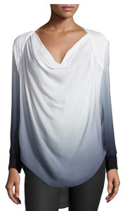 Haute Hippie Top White - Grey Ombre