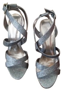 David's Bridal Jimmy Choo Lottie Glitter Metallic Sandals