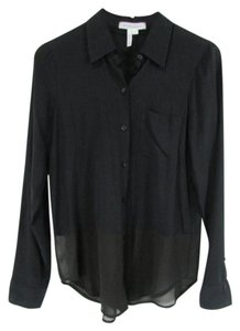 BCBGeneration Bcbg Bcbggeeration Sheer Button Down Shirt Black