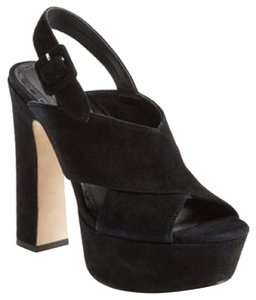 Alice + Olivia Black suede Platforms