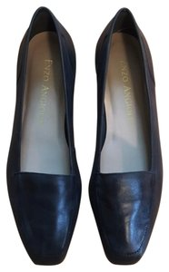 Enzo Angiolini Patent Leather Leather Spring Navy Flats