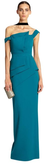 Item - Teal Gown La Reina Off-the Shoulder Gown Long Formal Dress Size 2 (XS)