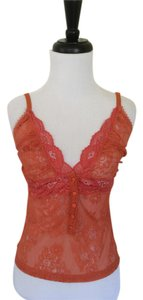 Dolce&Gabbana Orange Scalloped Top Tangerine Lace Camisole
