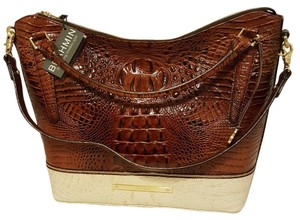 Brahmin Tote in Pecan Melbourne Tri Color