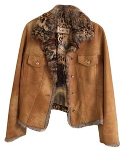 Vericci Rabbit Sheepskin TAN Jacket