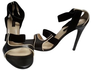 Sergio Rossi Black with Cream Sandals