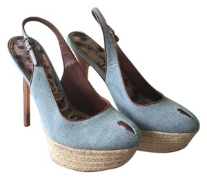 Sam Edelman Denim & Brown Platforms