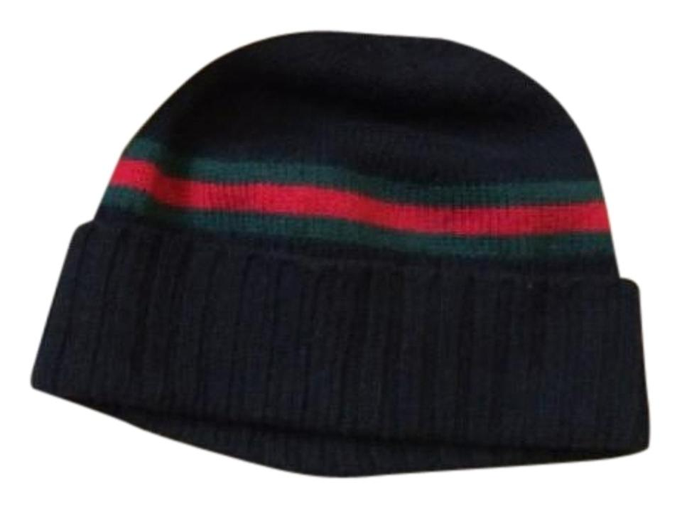 d28a708d4e287 Gucci Black Green and Red Wool Winter Hat - Tradesy