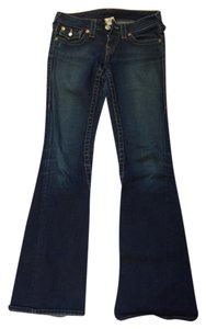 True Religion Pants Boot Cut Jeans-Dark Rinse