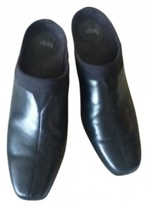 1803 Leather BLACK Mules