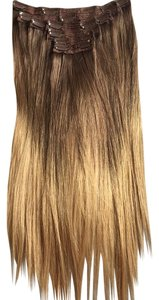 Hair Couture Ombre light brown/golden blonde Clip in extensions Hair Couture 'Lengths' 18