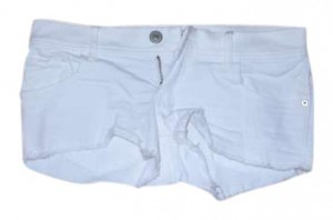 Abercrombie & Fitch Jean Jean Cut Off Shorts White