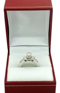 14k White Gold 1.0ct Diamonds Engagement Ring