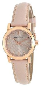 Burberry BU9210 Burberry The City Women Watch 27 mm Rose Gold Tone Taupe Check Dial Tan