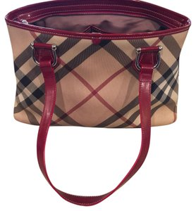 Burberry Tote in Red Plaid