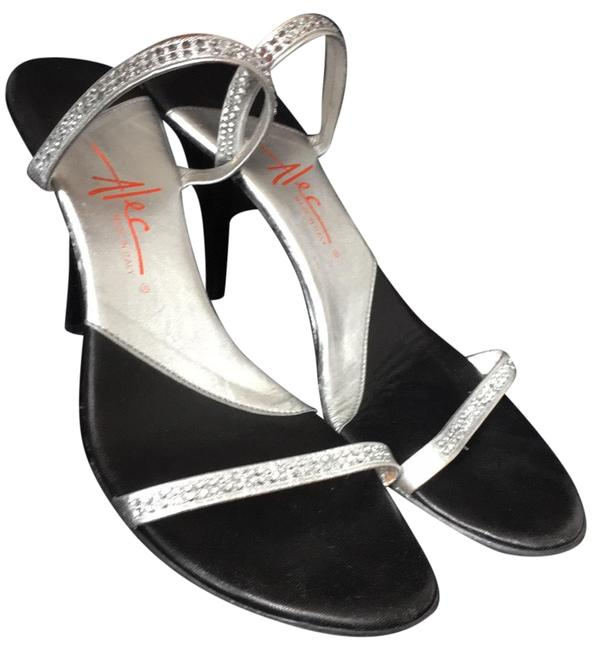 Item - Black Silver Sandals Size US 9 Regular (M, B)