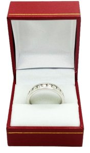 Beautiful 14k White Gold 0.8CT Diamond Wedding Band Ring, Size 10.5