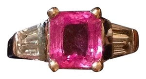 Other New Genuine Pink Sapphire Gemstone w/Diamonds, 18K White Gold Band.