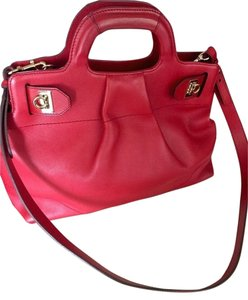 Salvatore Ferragamo Handbag Cross-body Leather Satchel in Red