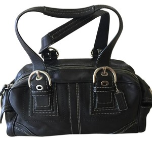Coach Leather Satchel in Chocolate Brown