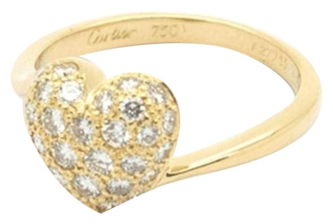 Item - 8 Heart Pave Diamond Ring In 18k Yellow Gold Size 6