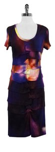 Nicole Miller short dress Multi-Color Fitted Stretchy Abstract Modern Short Sleeves on Tradesy