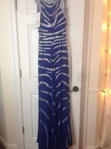 Jovani Jeweled Prom Pageant High Neck Modest Dress